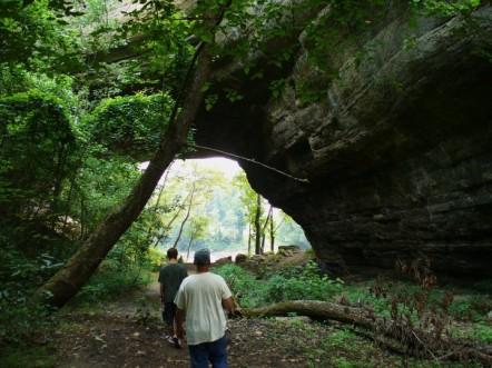"Creelsboro Natural Bridge – The ""Rockhouse"""