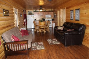 Photo of the inside of a Kentucky Log Cabin vacation rental located near Lake Cumberland
