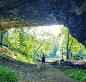 The Creelsboro Natural Arch is located in Jamestown Kentucky along the Cumberland River and is a wonderful free attraction in the Lake Cumberland area.