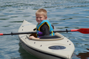 boy in kayak good shot