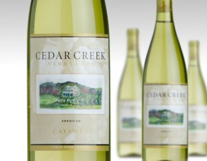 Photo of wine bottles from Cedar Creek Vineyards near Lake Cumberland Kentucky
