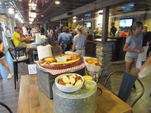 photo of giant pretzel and delicious food at Lake Cumberland's Cumberland Tap Restaurant