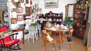 Photo of a lovely Lake Cumberland shop with furniture & glassware.  Lake Cumberland shopping.