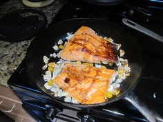 photo of trout cooking in a skillet - Cumberland River trout fishing - Lake Cumberland fishing