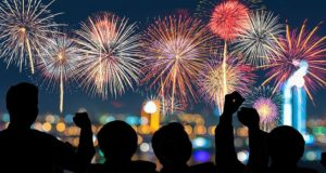 photo of people watching fireworks