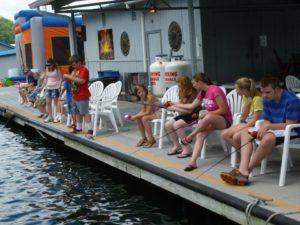 photo of Kids fishing at the Lake Cumberland State Dock Marina Kids Day