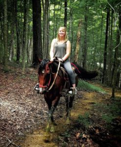 Photo of a girl horseback riding at Lake Cumberland State Resort Park