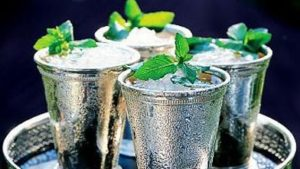 Photo of an authentic Kentucky Mint Julep with an authentic recipe