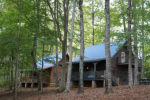 Photo of beautiful log cabins for rent on Lake Cumberland