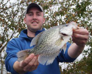 Photo of a man Crappie Fishing on Lake Cumberland