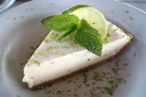 Photograph of Key Lime Pie from Fishtales Restaurant on Lake Cumberland