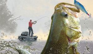 photo of a fisherman catching a bass