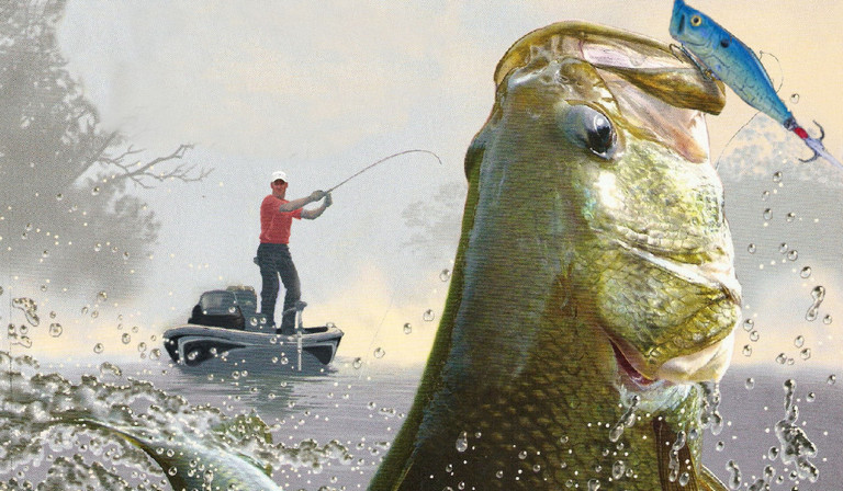 photo of a fisherman catching a bass