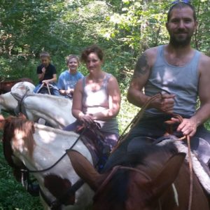 Photo of a group horseback riding near Lake Cumberland