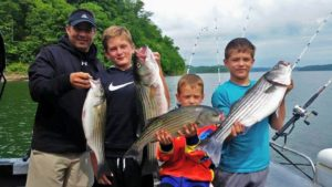Creating family vacation memories fishing in Kentucky on Lake Cumberland