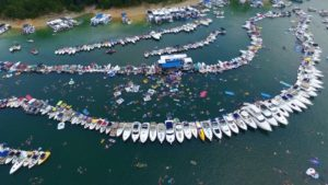 Lake Cumberland Raft Up, the world's largest is an annual event