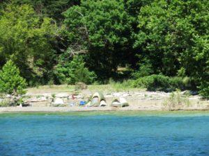 Lake Cumberland primitive lakeside camping