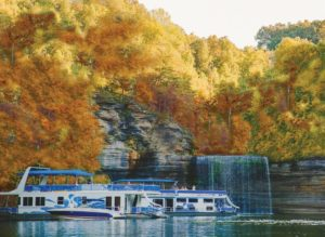 One of the best ways to views Kentucky fall foliage is on the water. Fall Kentucky boating gives you the splendor of the leaves as well as the beautiful crystal clear water of Lake Cumberland.