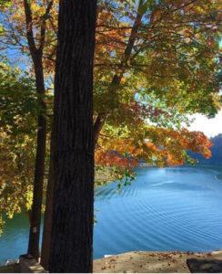 Fall beauty of Lake Cumberland and fall boating on Lake Cumberland