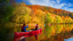 Bring your canoe or kayak and enjoy a fall float down the beautiful Cumberland River.