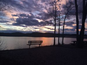 Halcomb's Landing in Jamestown Kentucky is a perfect spot to view a spectacular Lake Cumberland sunset.