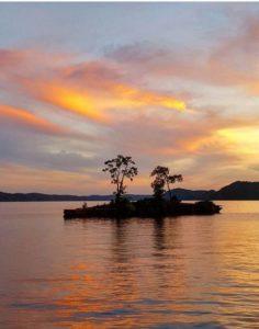 Sunset over a Lake Cumberland Island