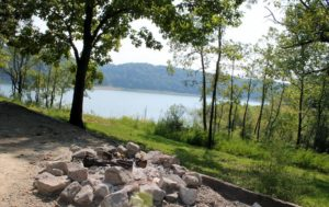 Lakeside campground at Alligator II Marina offers guests an up close view of beautiful Lake Cumberland as well as access to a swimming beach, picnic area, and playground