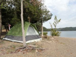 Lake Cumberland primitive camping on the shoreline or on a private island