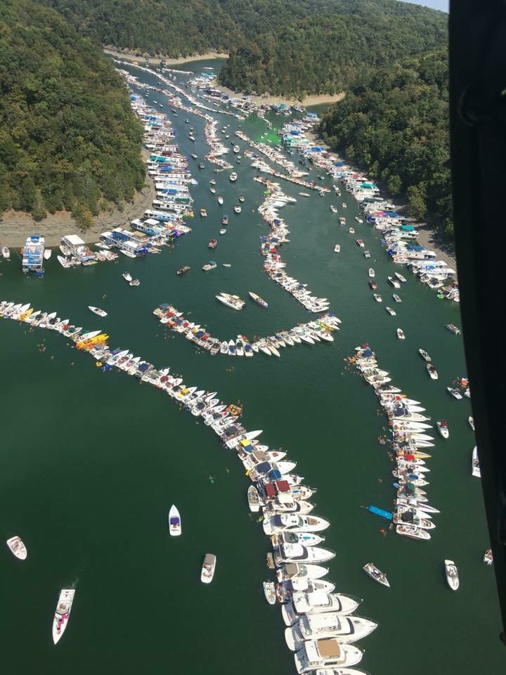 World's largest Raft Up on Lake Cumberland is one of the best and most popular events!