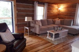 Rustic Retreat is a spacious Kentucky log cabin that sleeps 10 people and is perfect for your next Kentucky vacation