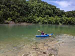 Kayak and canoe the beautiful Cumberland River in Jamestown Kentucky