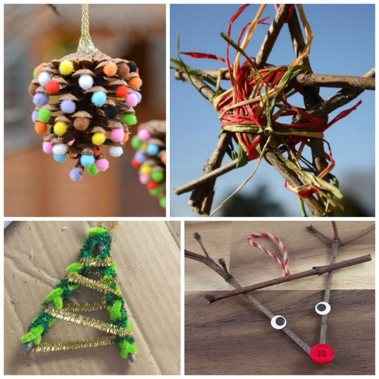 Things to do - family fun nature crafts for Christmas workshop