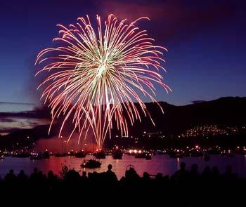 Lake Cumberland fireworks - Fireworks over Lake Cumberland